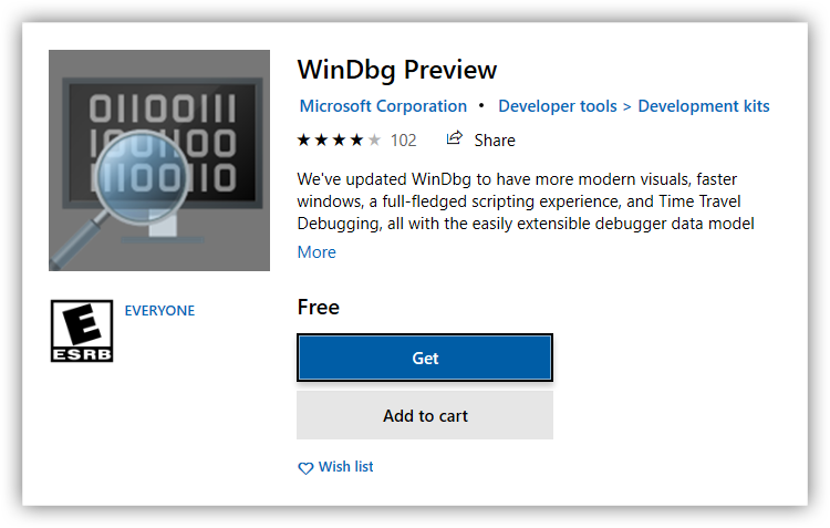 WinDbg Preview download
