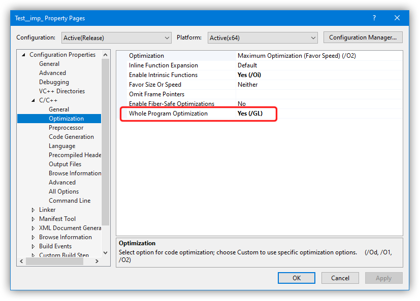 C++ Project Page - Whole Program Optimization