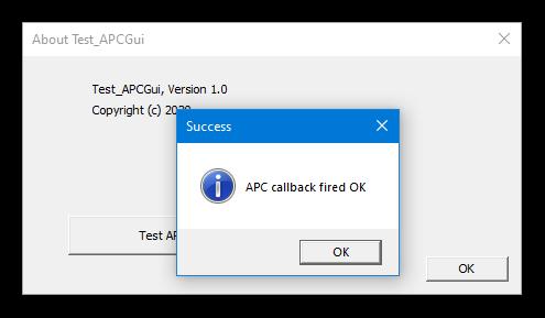Dialog box - APC call