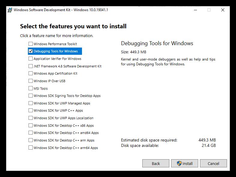 Windows SDK Installer